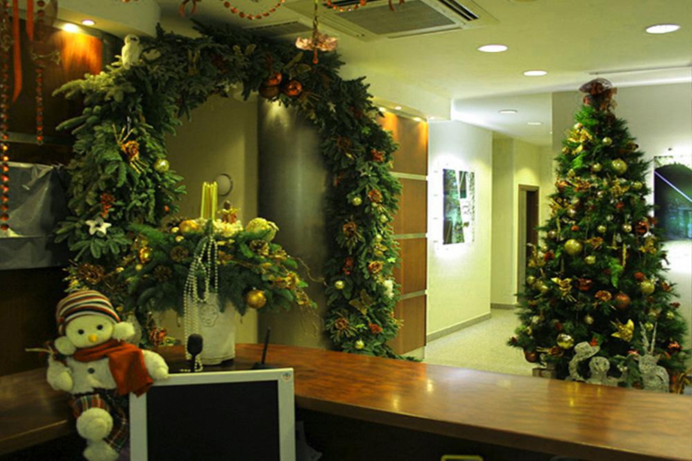 новогодний офис