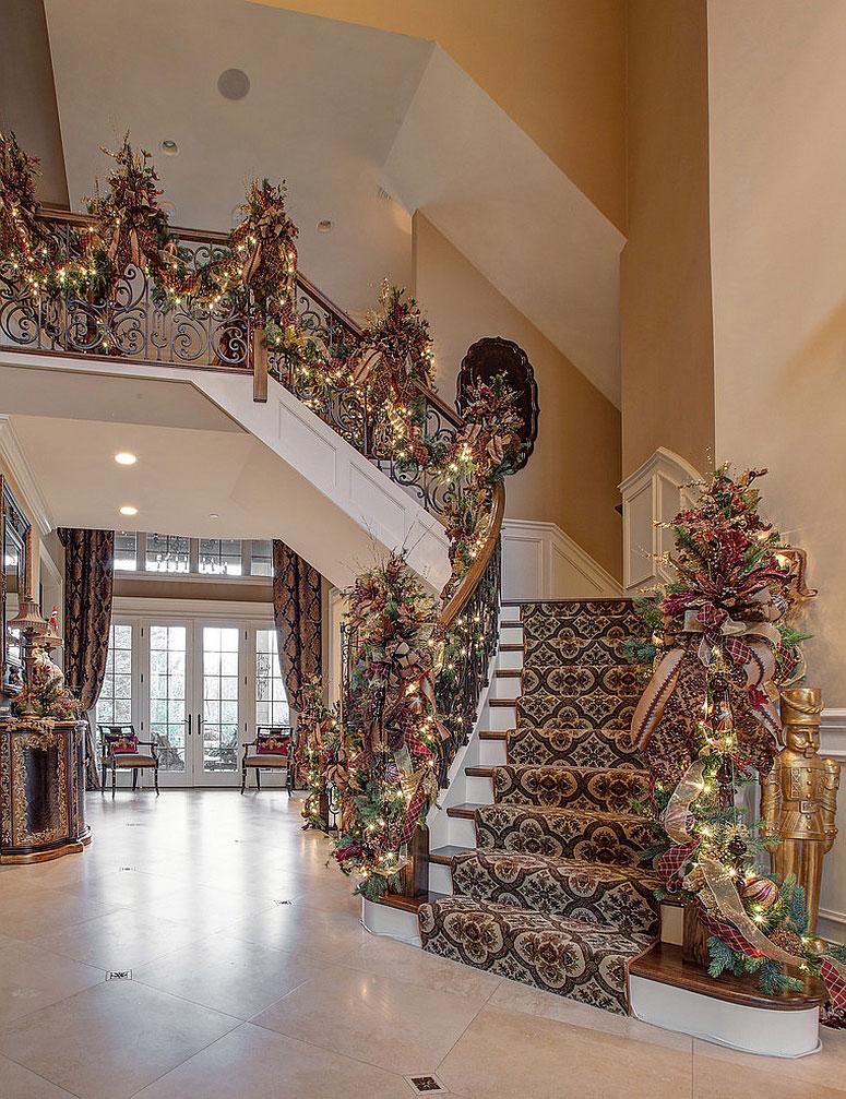 новогодний дизайн лестницы