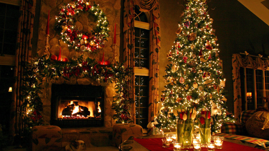 новогоднее украшение елки