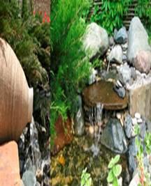 Каскад фонтанов на участке