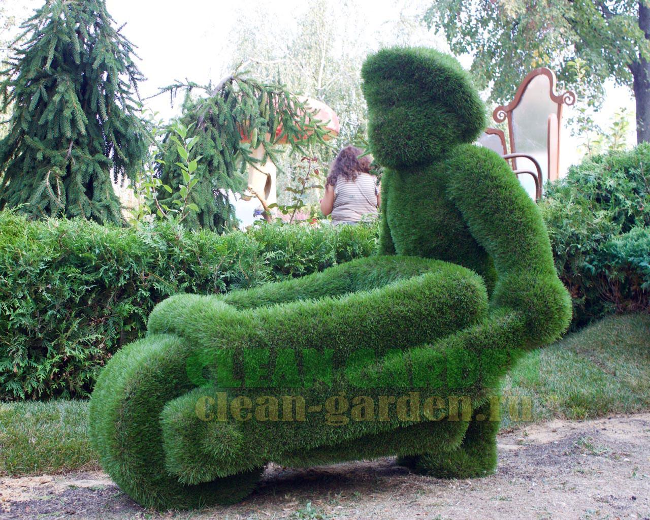 Как сделать фигуры из искусственного газона своими руками 23